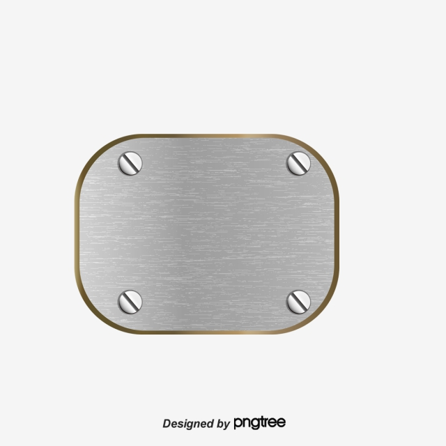 Metal Plate Png, Vector, PSD, and Clipart With Transparent.