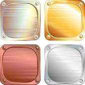 Clipart of Metal plates k6605151.