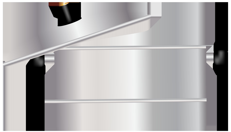 Metal Cooking Pot Clipart.