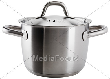 Stock Photo Stainless Steel Pot Clipart.