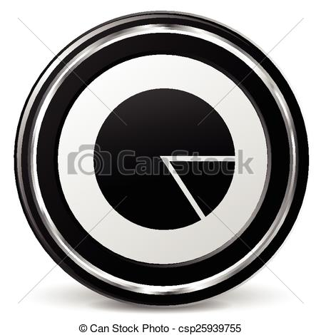 Clipart Vector of pie icon with metal ring.