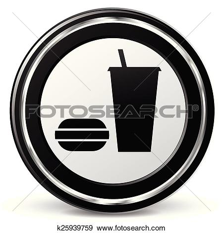 Clip Art of food icon with metal ring k25939759.