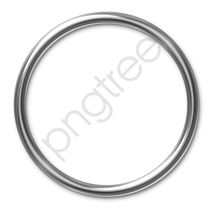 Steel Ring, Ring, Highlight, Silver White PNG Transparent.