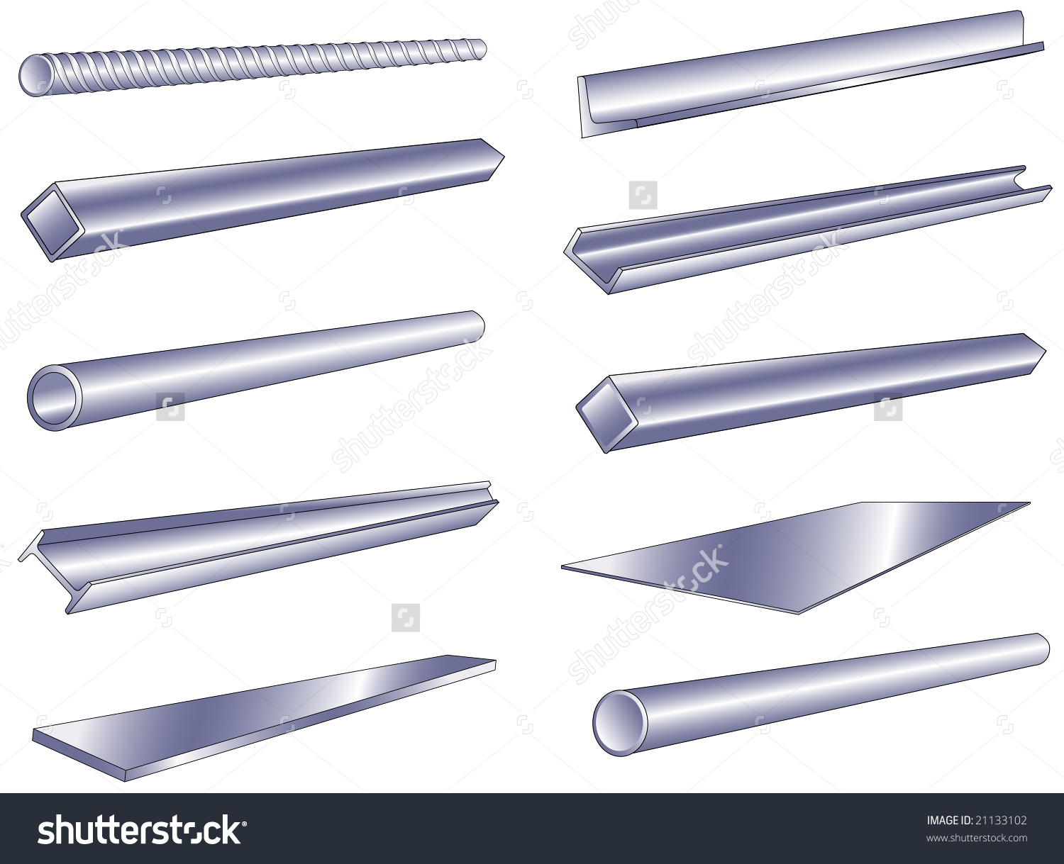 Steel Rod Isolated Stock Vectors & Vector Clip Art.