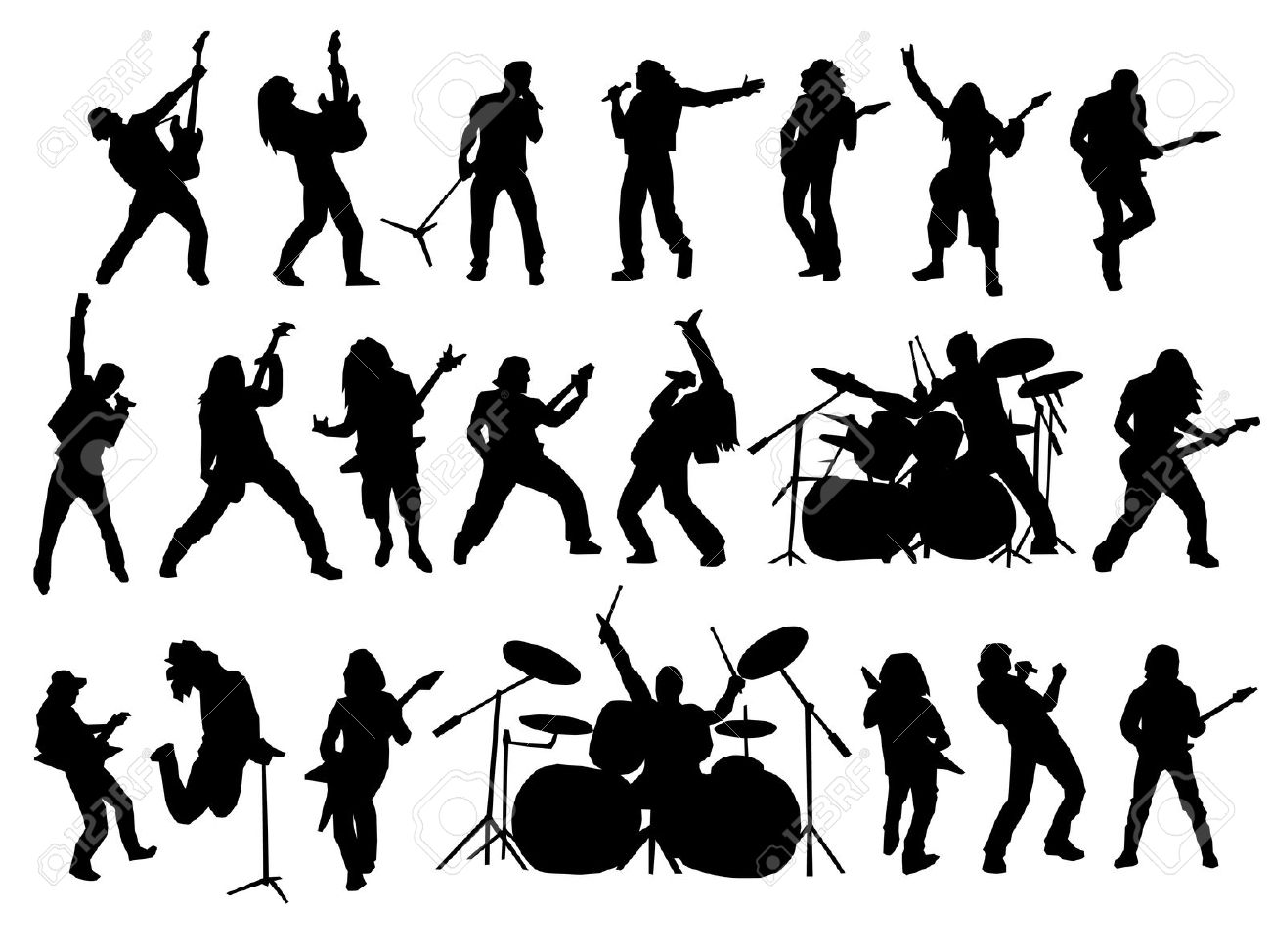Heavy metal clipart silhouette.
