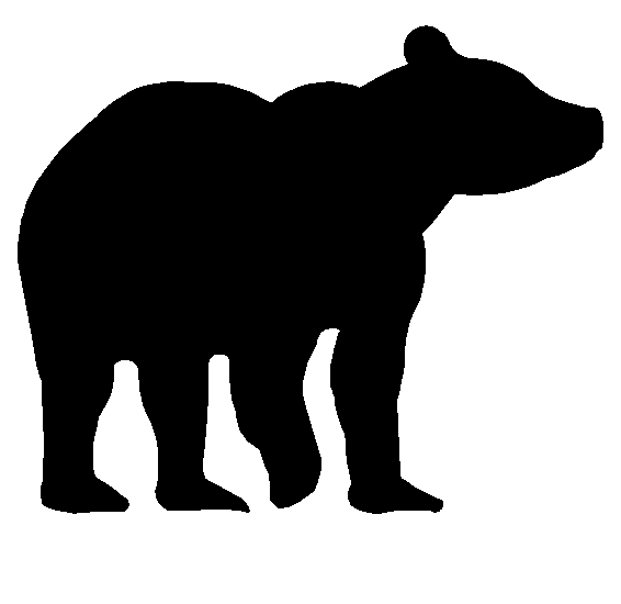 Download vector about bear silhouette item 5 , vector.