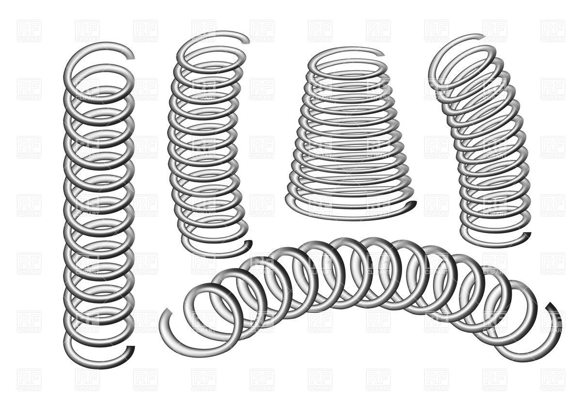 Set of metal springs Vector Image #25554.