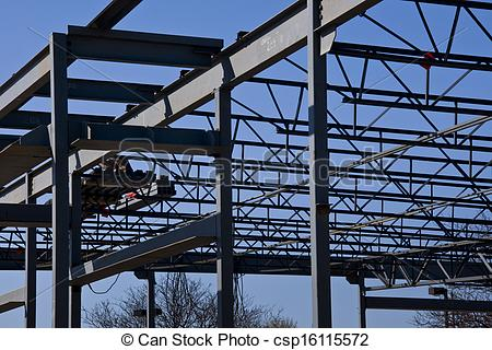 Picture of Steel Structure Frame.
