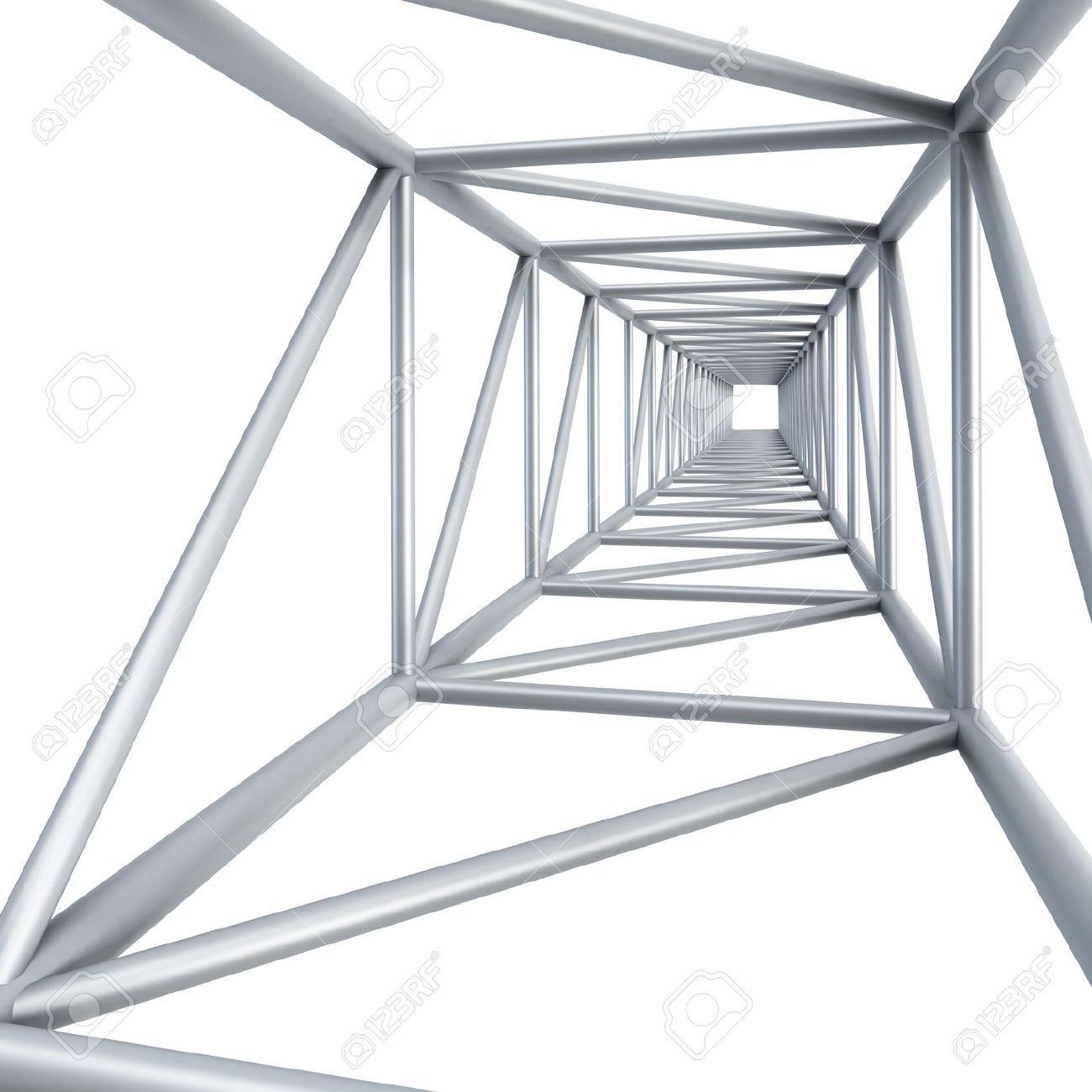 Steel Girder, Isolated 3d Render Stock Photo, Picture And Royalty.