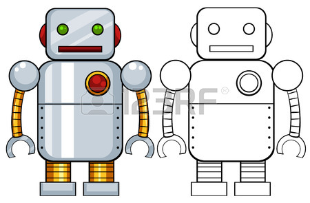 Toy Robot Made Of Metal Royalty Free Cliparts, Vectors, And Stock.