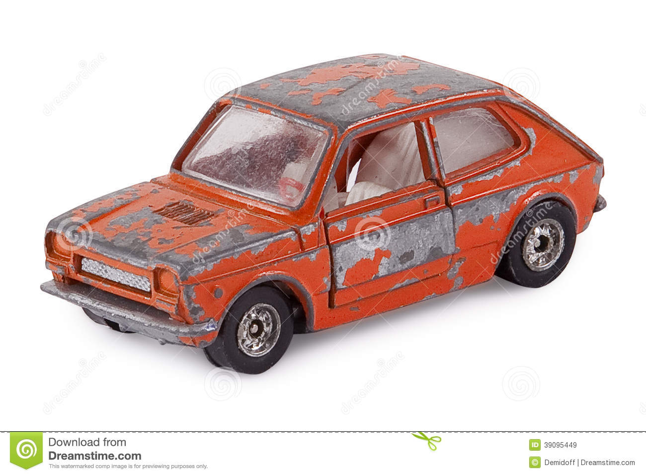 Old Toy Car Stock Photo.