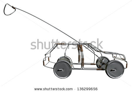 Traditional South African Handmade Wire Toy Stock Illustration.