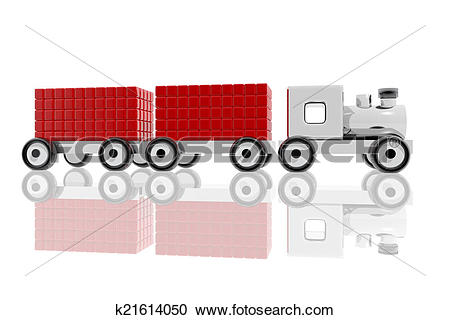 Stock Illustrations of Metal toy train with goods k21614050.