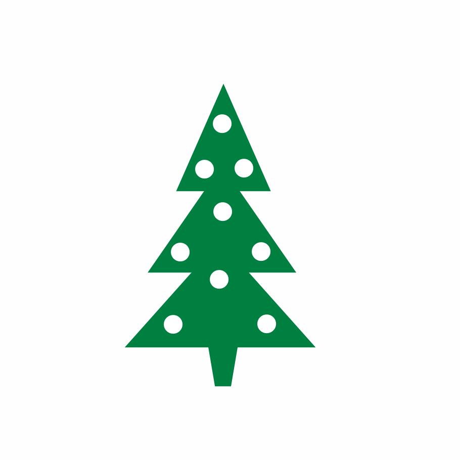 Vintage metal christmas tree clipart.