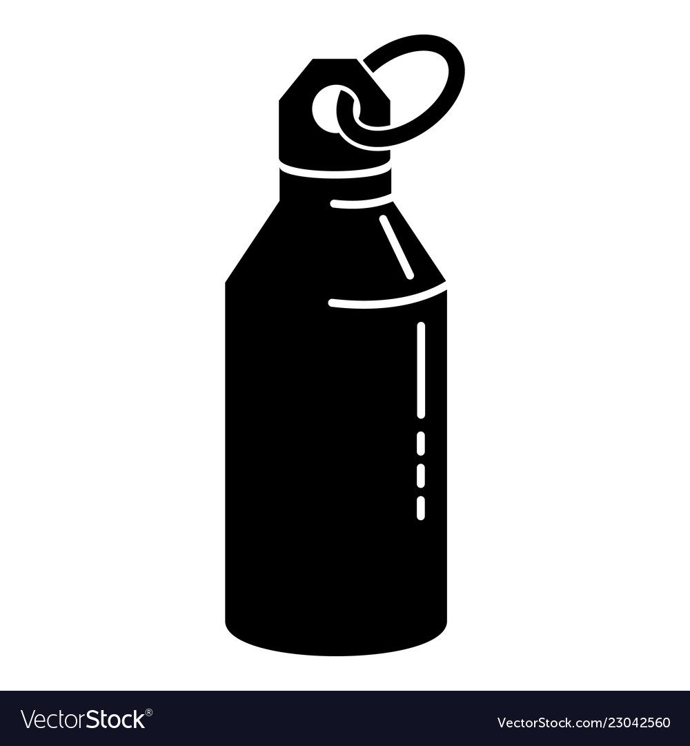 Metal water bottle icon simple style.