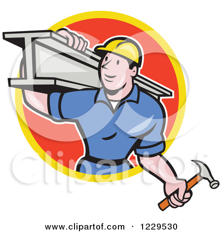 Steel worker clipart.