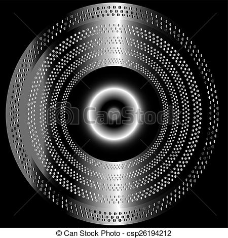 Clipart of Metal black background with circle csp26194212.