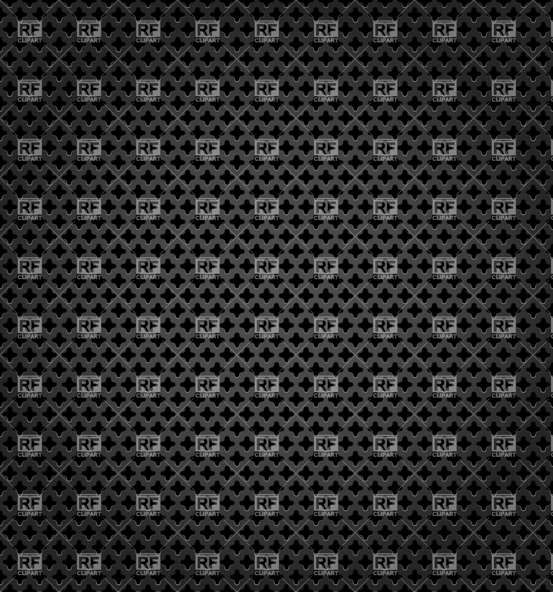Metal black perforated surface Vector Image #18510.