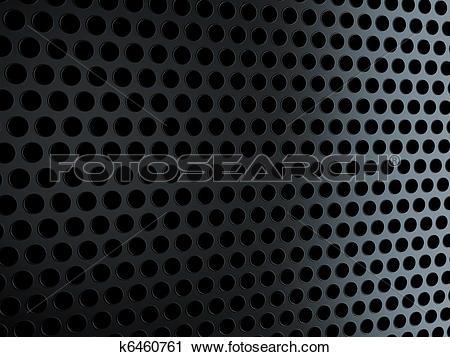 Clipart of Metal black grill over black k6460761.