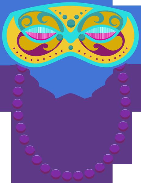 Mardi Gras Beads Clip Art.