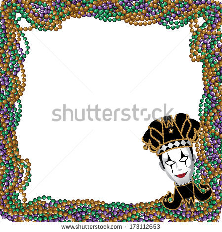 Mardi Gras Border Stock Images, Royalty.
