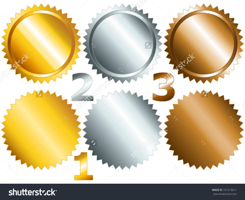 Eps 10 Gold Silver Bronze Games Stock Vector 101213611.
