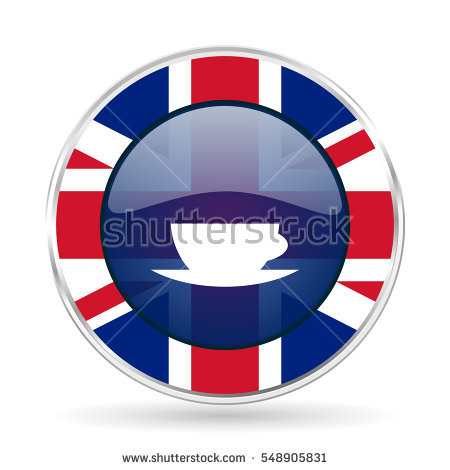 Mug English Flag Stock Images, Royalty.
