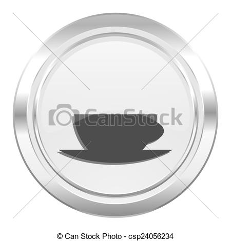 Drawings of espresso metallic icon caffe cup sign csp24056234.