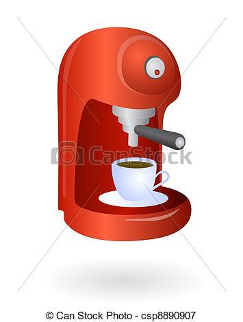 Vectors Illustration of Espresso coffee machine.