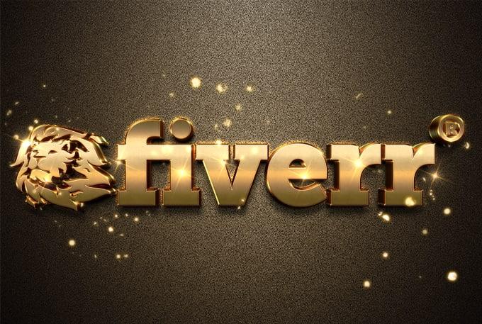 design your log o into 3d metallic gold logo and silver.