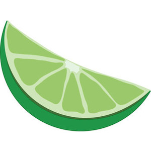 Free Clip Art Picture of a Lime Wedge.