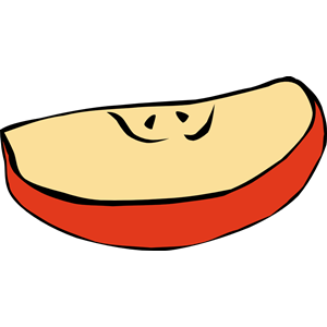 Apple Wedge Clipart.