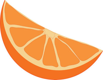 Orange Wedge Clipart.