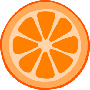 Orange slices clipart #9