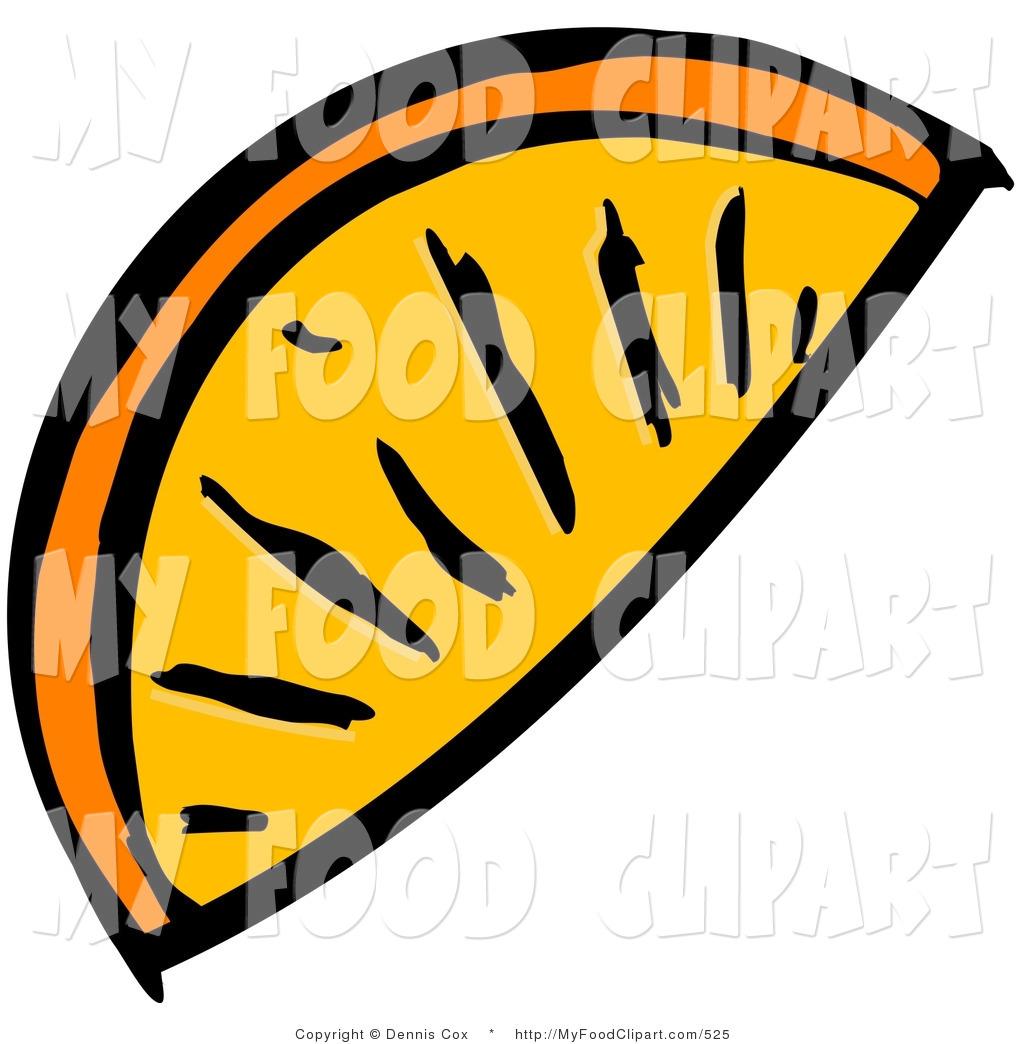 Orange Wedge Clipart.