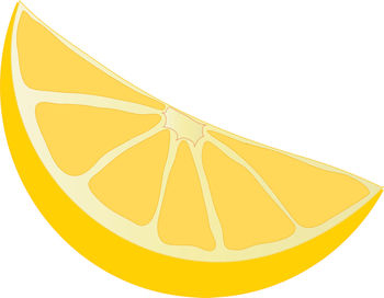 Lemon Wedge Clipart.