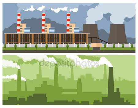 Metallurgical Plant and Power — Stock Vector © waider.list.ru.