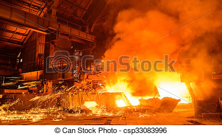 Stock Photographs of Working at the metallurgical plant.
