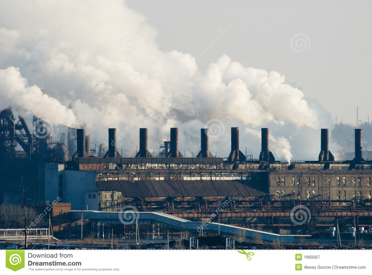 Iron And Steel Metallurgical Plant Royalty Free Stock Photography.