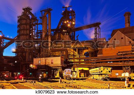 Stock Photo of Metallurgical plant k9079623.