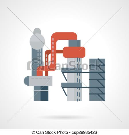 Vector Illustration of Metallurgical works flat vector icon.