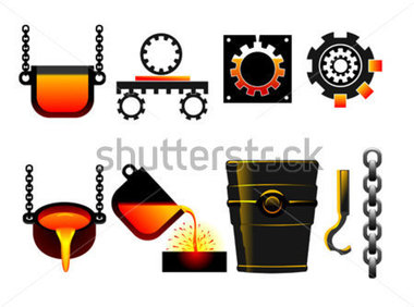 Steel Production Clipart.