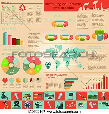 Clip Art of Metallurgy infographics k20620167.
