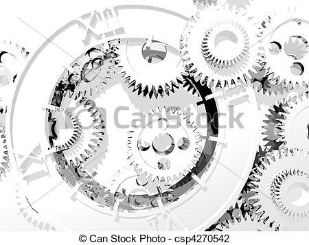 Clip Art of time metamorphoses.