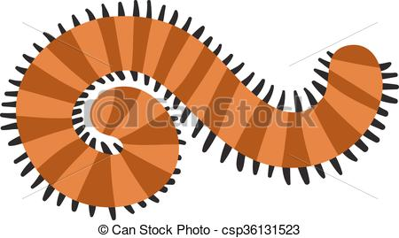 Vector Illustration of Green nature caterpillar insect realistic.