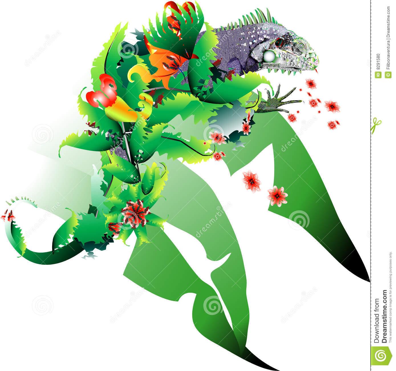 Reptile Metamorphosis Stock Photo.