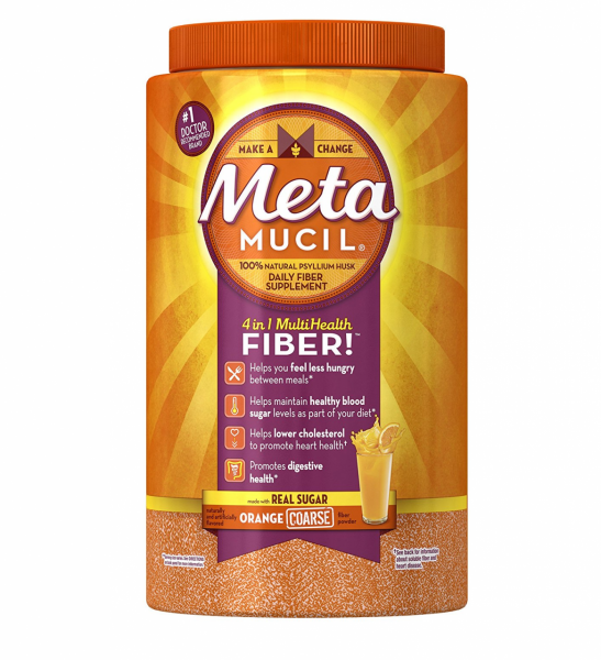 Metamucil Orange Coarse Sugar Powder 72 ea.