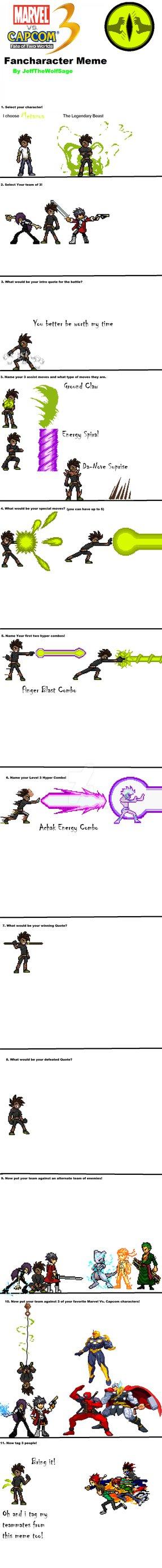 marvel vs capcom 3 meme featuring Metazoa by Clethrow on DeviantArt.