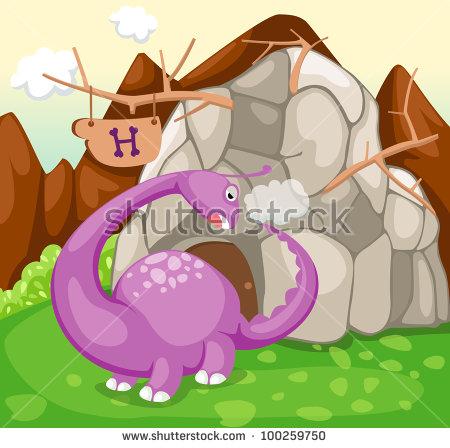 Illustration Landscape Rock Cave Forest Stock Vector 96953438.