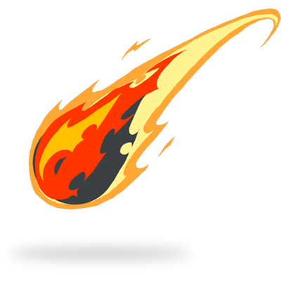 Meteor PNG Clipart Background.